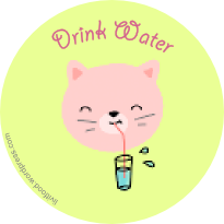drink-water-cat-animal-tag