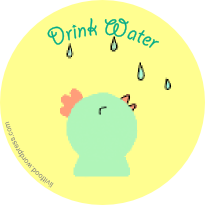 drink-water-chick-animal-tag